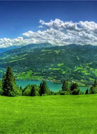 美丽的绿色草原风景图片欣赏