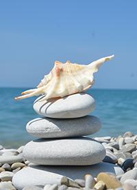 海边鹅卵石风景图片大全