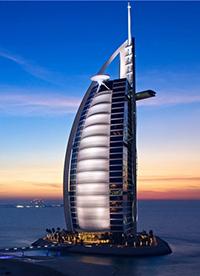 迪拜帆船酒店梦幻风景素材图片