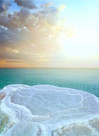 死海和盐湖唯美风景高清图片