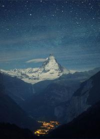 唯美夜晚星空风景图片欣赏