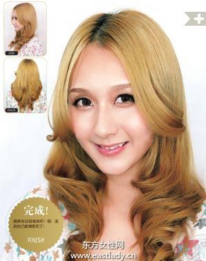 内卷卷发发型小脸发型的首选款式
