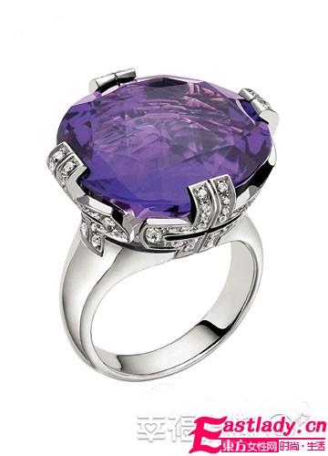 紫色新娘珠宝搭配 明耀冬日绮丽颜色