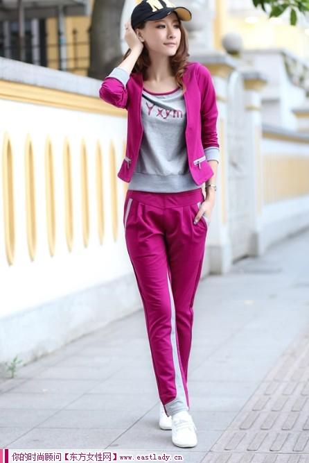 2012秋季新款运动套装出行 俏丽活泼又可爱