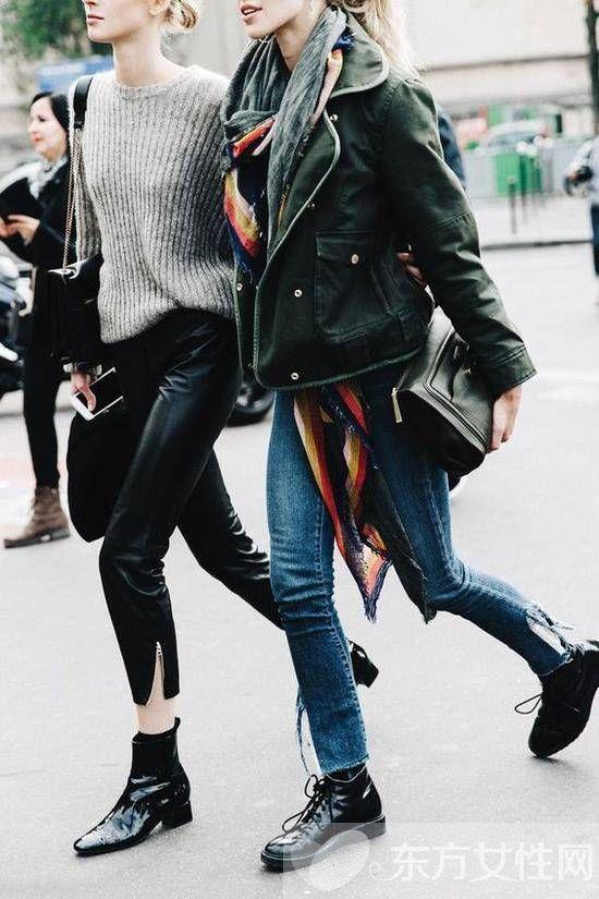 冬季粗跟短靴怎么搭 从他们身上学点搭配灵感