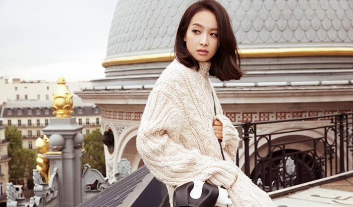 宋茜时尚杂志写真大片 潇洒随性现代感十足