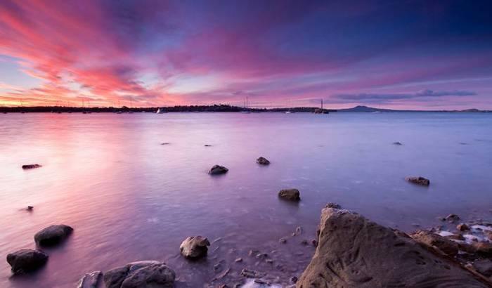 日照海边图片欣赏 黄昏斜阳风景迷人